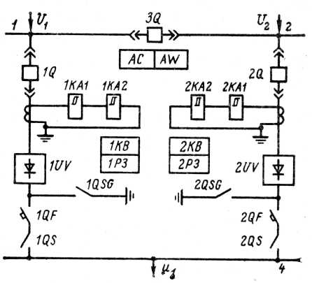 Схема главных электрических